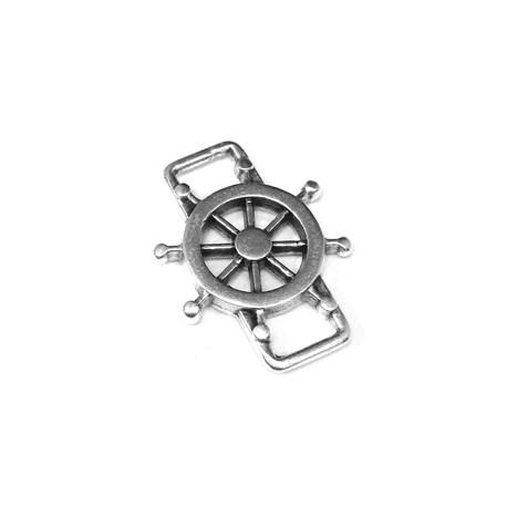 Conector de Metal Zamak Timón 24x18mm (Ø6.1x3.7mm)