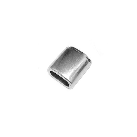 Pasador de Metal Zamak Tubo Ovalado 15x14mm (Ø10.2x5.4mm)