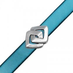 Pasador de Metal Zamak 2 Rombos 20x15mm (Ø10.2x2.2mm)