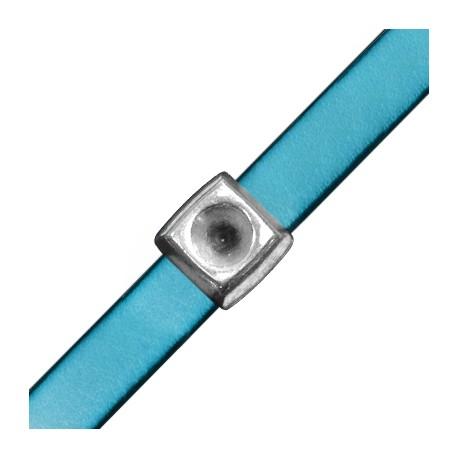 Pasador de Metal Zamak Cuadrado 14mm con Base para Cristal Chatón SS39 (Ø 10,2x2,2mm)