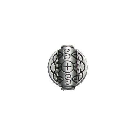 Entrepieza de Metal Zamak Disco Plano 19x17.5mm (Ø 2.5mm)