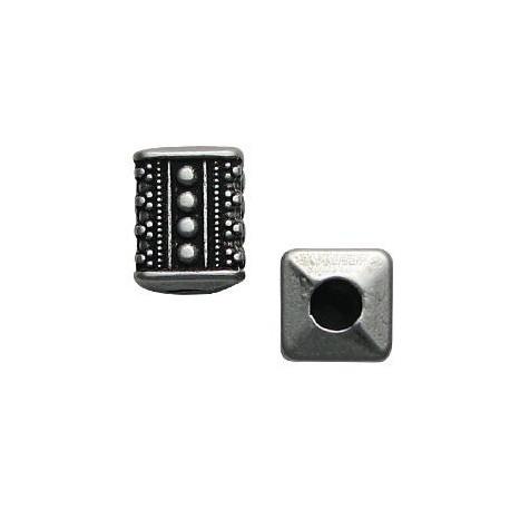 Entrepieza de Metal Zamak Tubo Rectangular 15x12.5x12.5mm (Ø 5.5mm)