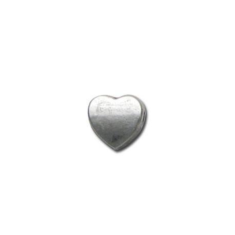 Entrepieza de Metal Zamak Corazón 8mm (Ø 2.1mm)