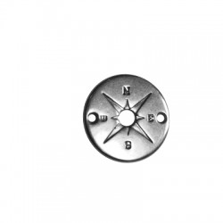 Conector de Metal Zamak Brujula 20mm