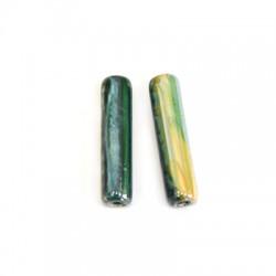 Entrepieza tubo de Ceramica 10x40mm (Ø 4mm)