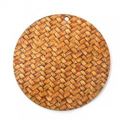 Colgante de Madera Redondo Efecto Bambu 45mm