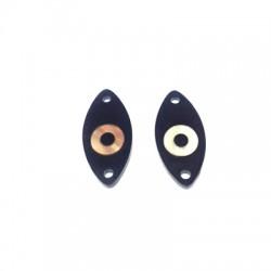 Conector de Metacrilato Ovalado con Ojo 25x11mm