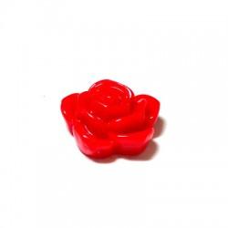 Entrepieza de Resina Flor Rosa 18-20mm (Ø 1mm)