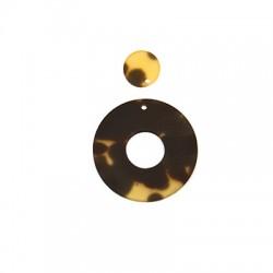Colgante de Resina Redondo 36mm y 15mm (set 2 pcs)