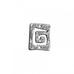 Conector de Metal Zamak Espiral Cuadrado 23x19mm