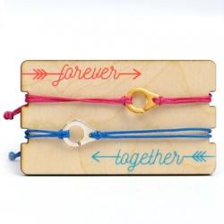 Pulseras Link&Love con Esposas con Portapulsera de madera