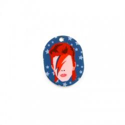 Colgante de Metacrilato Bowie 24x30mm