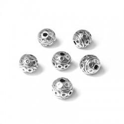 Entrepieza de Metal Zamak con Diseños 7mm (Ø 1.3mm)
