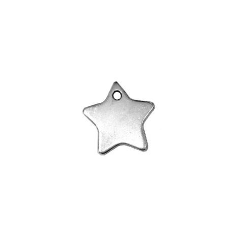 Colgante de Metal Zamak Estrella 18mm