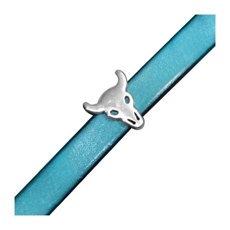 Pasador de Metal Zamak Cabeza de Toro 14x15mm (Ø 10x2mm)
