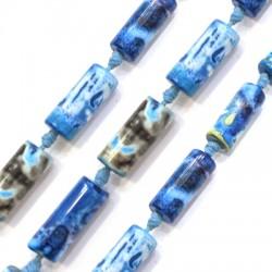 Tubo Semipreciosa de Ágata 8x20mm (~16pcs/tira)
