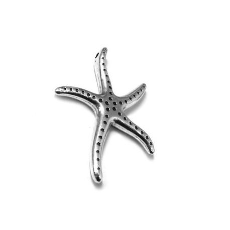 Colgante de Metal Zamak Estrella de Mar 30x40mm (Ø 2mm)
