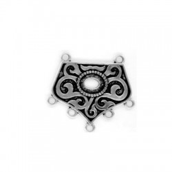 Accesorio de Collar de Metal Zamak 23x32mm con 7 Anillas