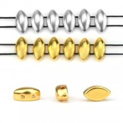 Entrepieza de Metal Zamak 3x8mm/4mm (Ø 1mm)