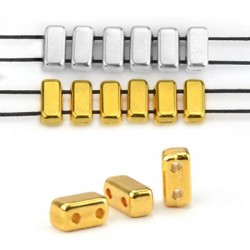 Entrepieza de Metal Zamak 3x7/3mm (Ø1mm)