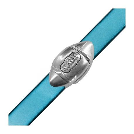 Cierre Magnético de Metal Zamak Pelota de Rugby 29x15mm (Ø 10.2x2.2mm)