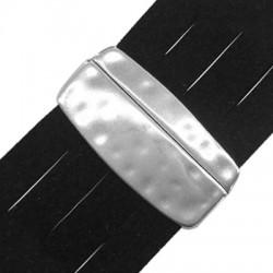 Cierre Magnetico de Metal Zamak Martillado 22x45mm (Ø 40x2.2mm)