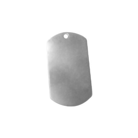 Colgante de Metal Zamak Chapa Rectangular 49x28mm (Ø 2,5mm)