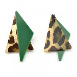 Pendientes de Metacrilato Triangulo 31x55mm (set 2 unid.)