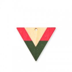 Colgante de Madera Pintado Triangulo 50x42mm