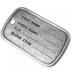 Etiqueta Ejército de Metal Zamak 42x27mm