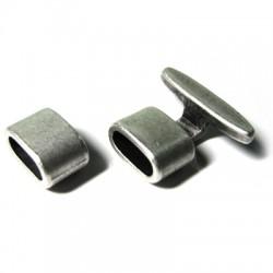 Cierre Gancho de Metal Zamak 2 Partes 13.7x7.9mm (Ø 10.6x5mm)