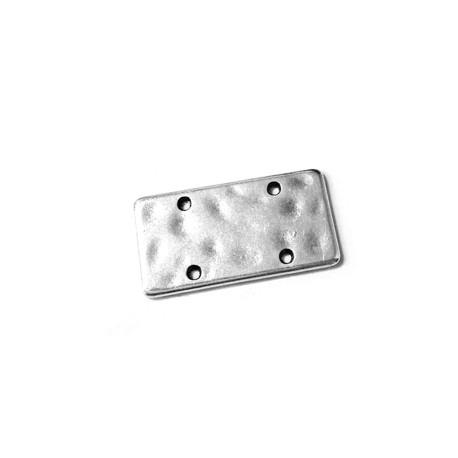 Conector de Metal Zamak Rectangulo 13x25mm (Ø 1,2mm)