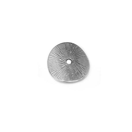 Entrepieza de Metal Zamak Disco Redondo con Curva 15mm (Ø1.8mm)