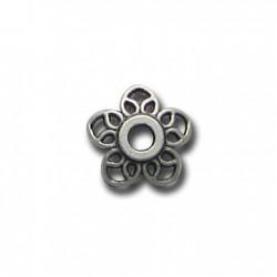 Cascarilla de Metal Zamak Flor Filigrana 11mm
