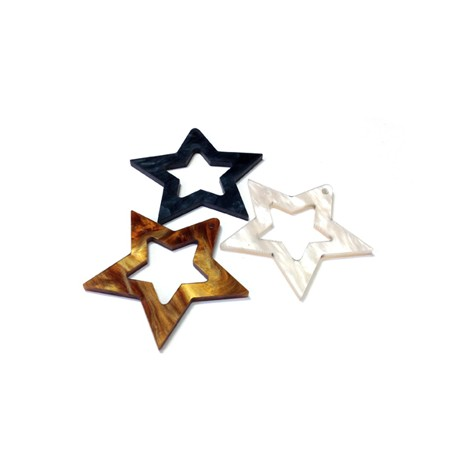 Colgante de Metacrilato Estrella 40mm