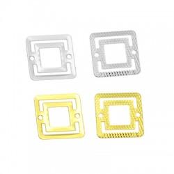 Conector de Metal Laton Cuadrado 16mm