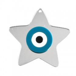 Colgante de Metacrilato Estrella con Ojo 65x70mm