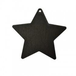 Colgante de Madera Estrella Pizarra 90x96mm