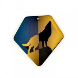 Colgante de Metacrilato Lobo 49x50mm