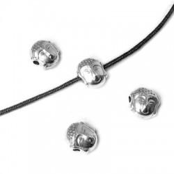 Entrepieza de Metal Zamak Cabeza Buda 7x5.2mm (Ø 1.2mm)