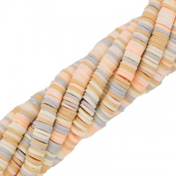 Rondel de Arcilla Polimerica Heishi ~6mm (~293pcs/tira)