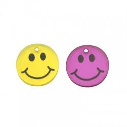 Colgante de Metacrilato Cara Sonriente 17mm