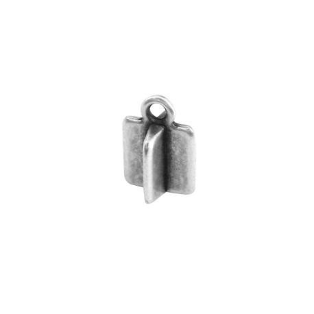 Colgante de Metal Zamak Rectangular 3 Dimensiones 6x8mm