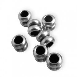 Entrepieza de Metal Latón Doble 5x5.3mm (Ø 2.6mm)