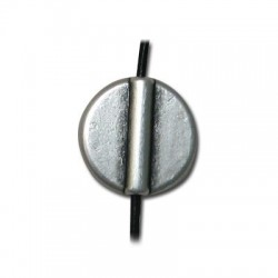 Entrepieza de Metal Zamak Redonda Plana 17mm(Ø 1.8mm)