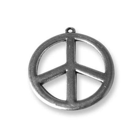 Colgante de Metal Zamak Signo de la Paz 35mm