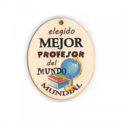 Colgante de Madera ´´profesor´´ 60x50mm