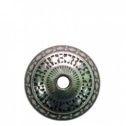 Bola Acrílica Metalizada CCB Decorada 20x28mm