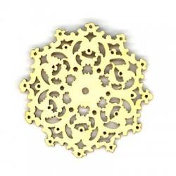 Colgante de Madera Flor 50x2.5mm