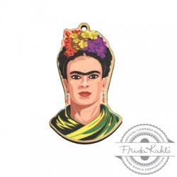 Colgante de Madera Frida Kahlo 27x45mm